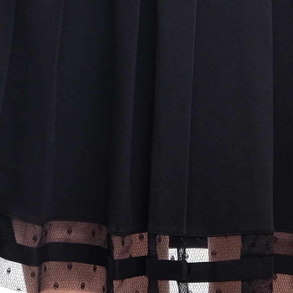 Черное платье Red Valentino с коротким рукавом