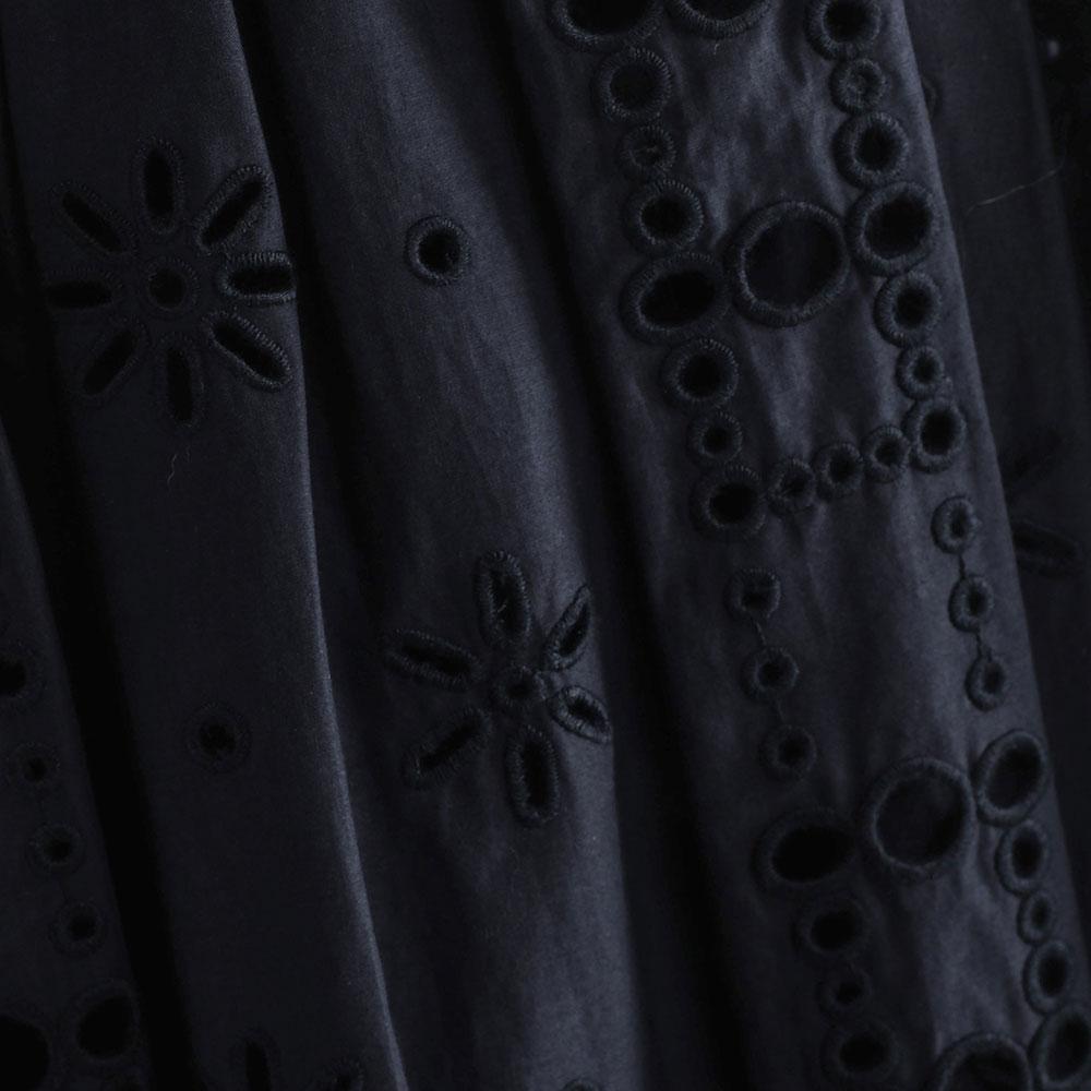 Черное платье-миди Red Valentino с коротким рукавом