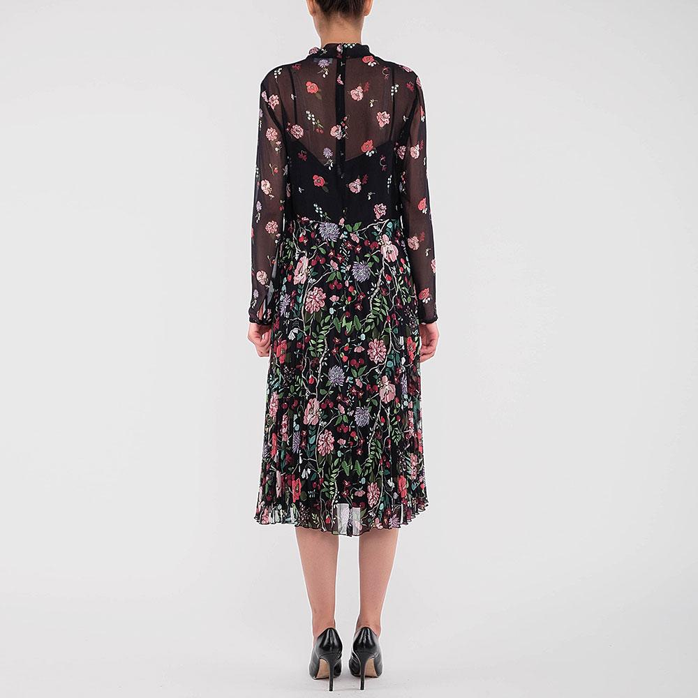 Платье-миди Red Valentino с флористическим принтом