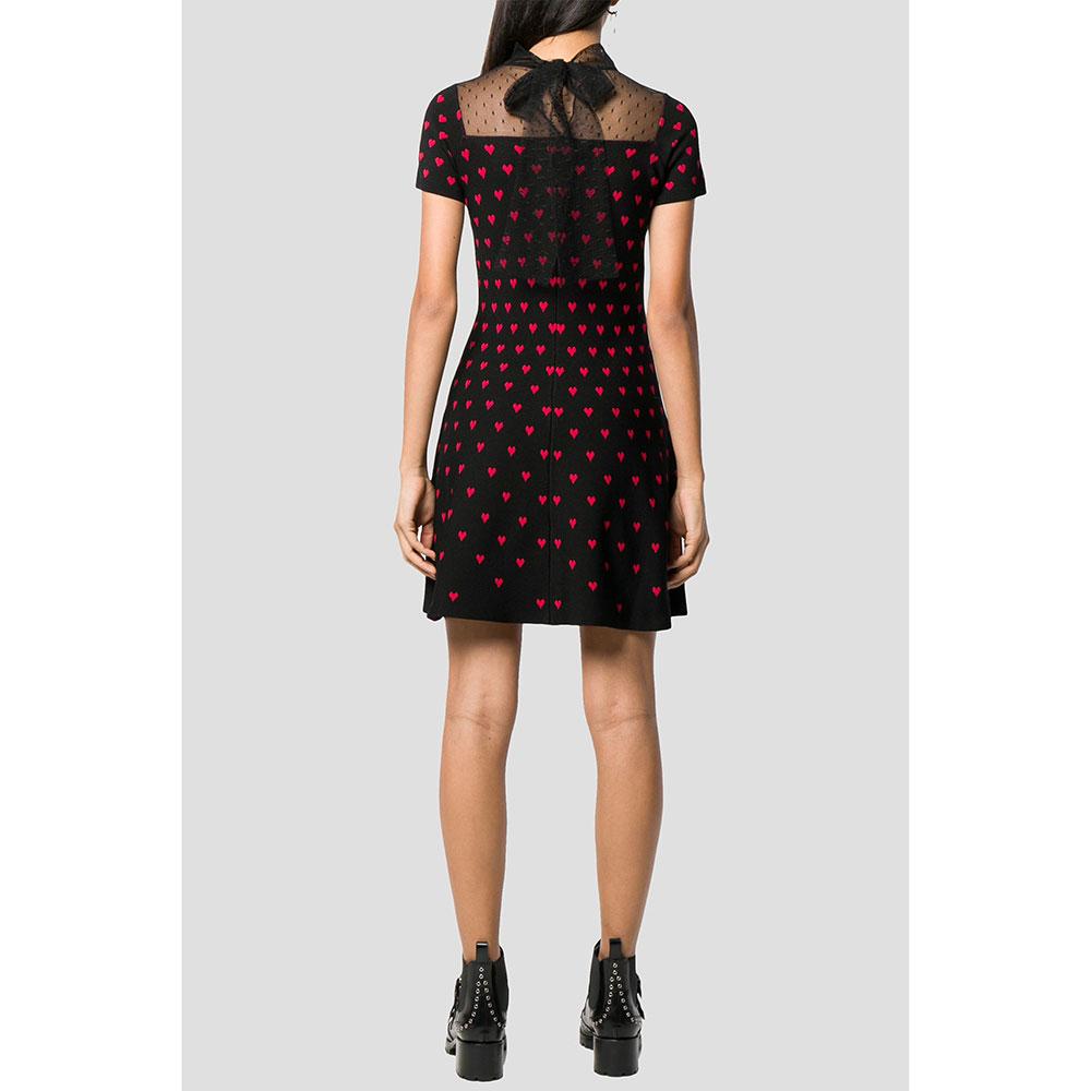 Платье Red Valentino с прозрачной вставкой
