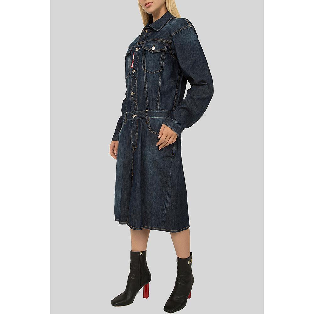 Джинсовое платье Dsquared2 темно-синего цвета