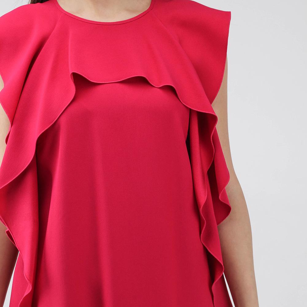 Красное платье Red Valentino с воланами