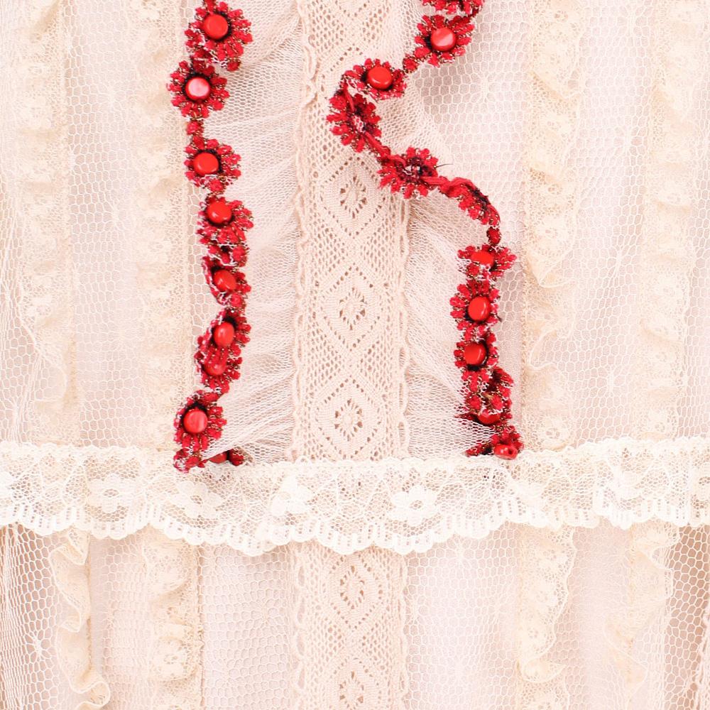 Бежевое платье Red Valentino с кружевом