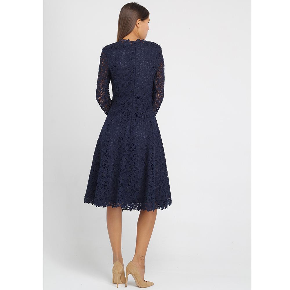 Платье из кружева Ermanno Ermanno Scervino синего цвета