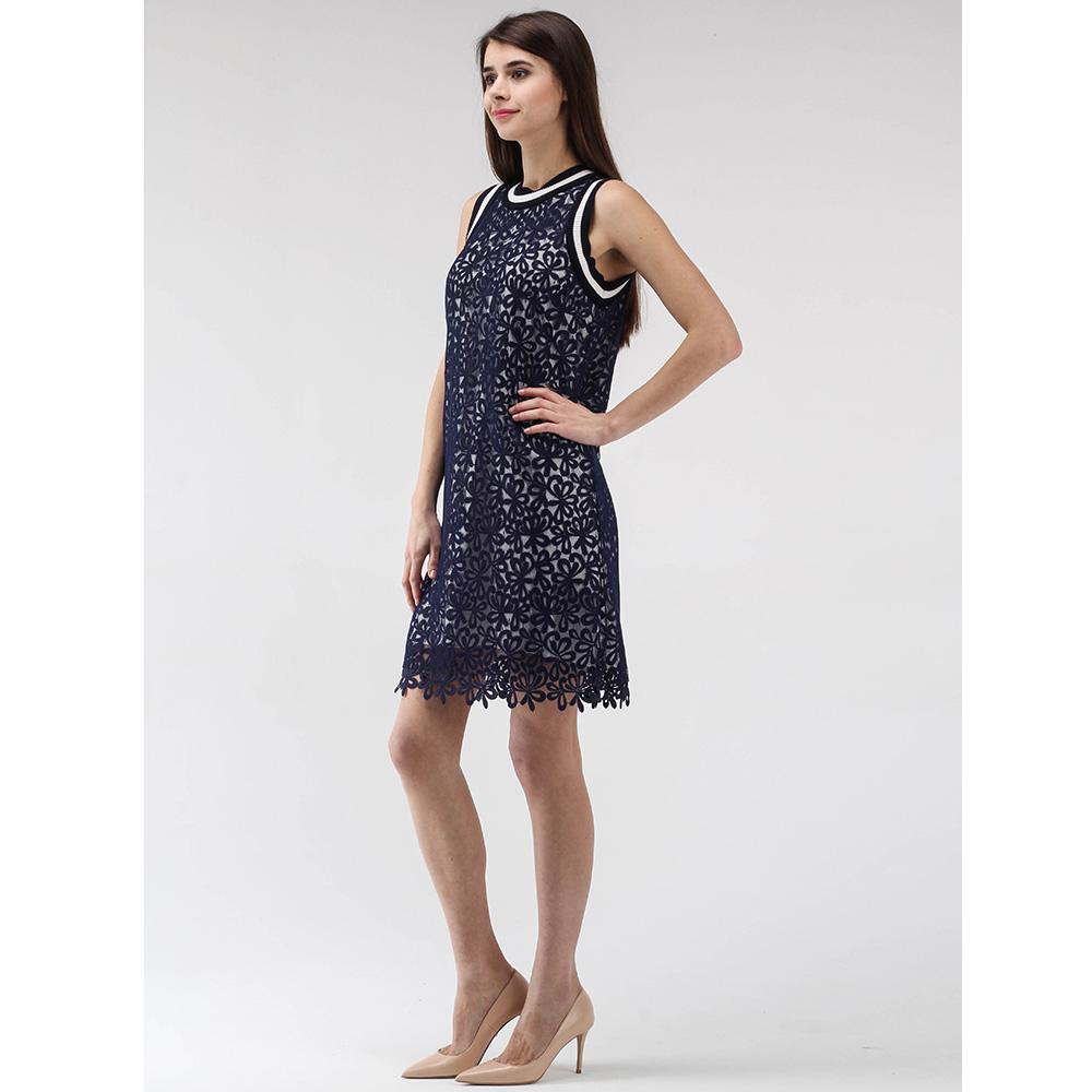 Платье Ermanno Scervino из синего кружева