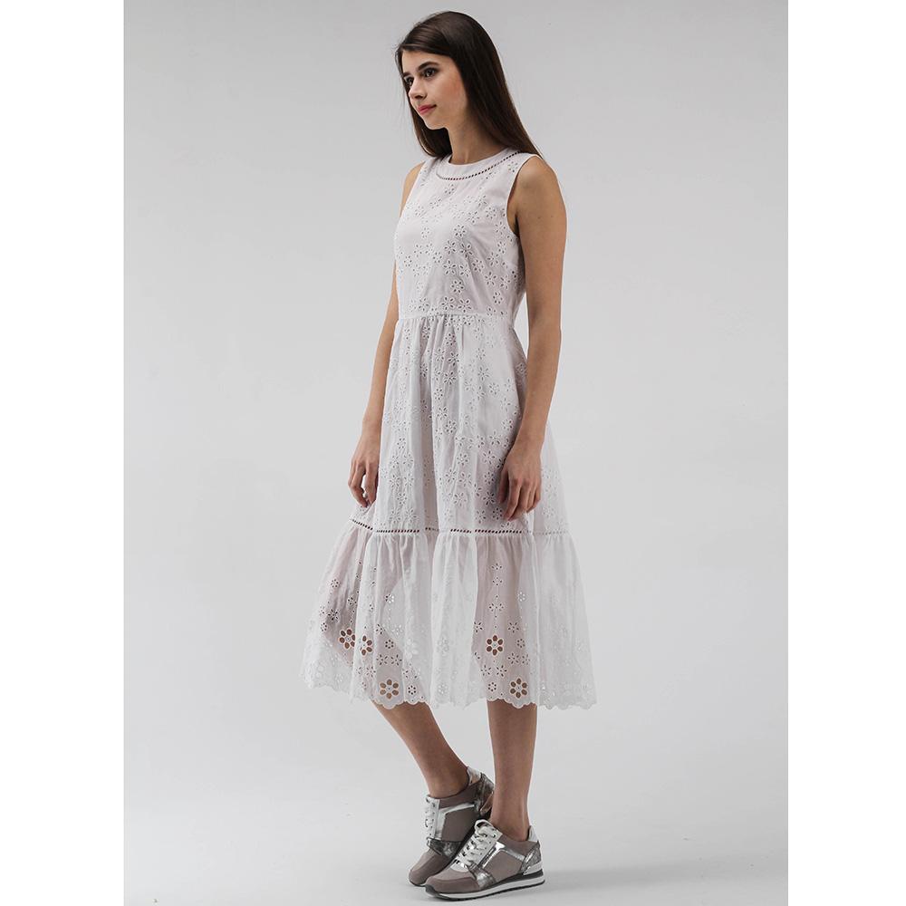 Батистовое платье миди Ermanno Scervino белого цвета
