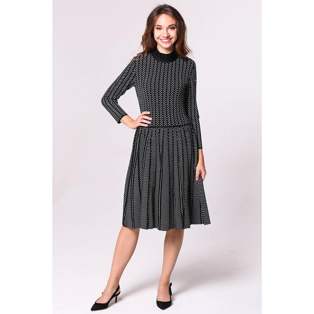 Черное платье Emporio Armani с геометрическим орнаментом