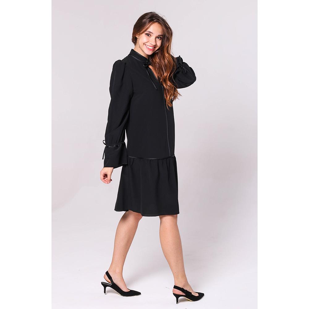 Платье Emporio Armani черного цвета с пышной юбкой