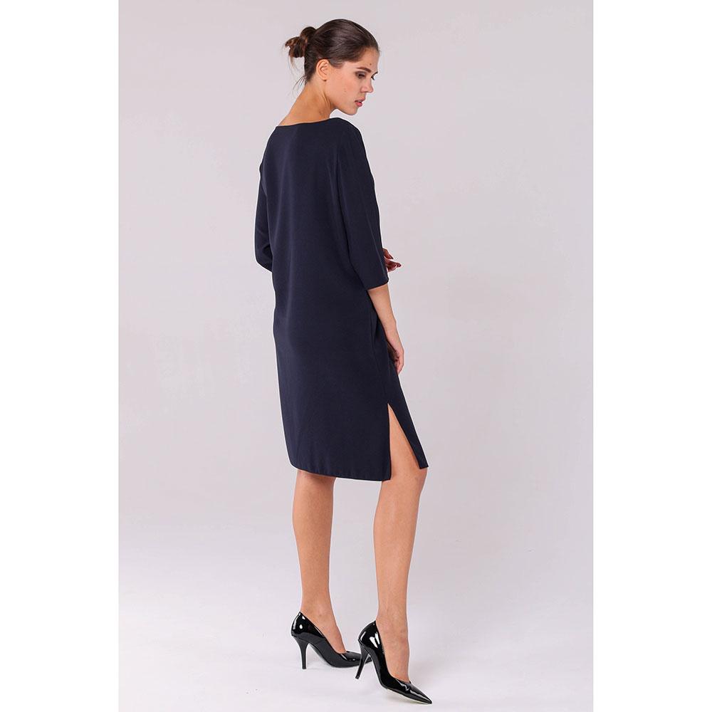 Синее платье Emporio Armani с разрезами по бокам