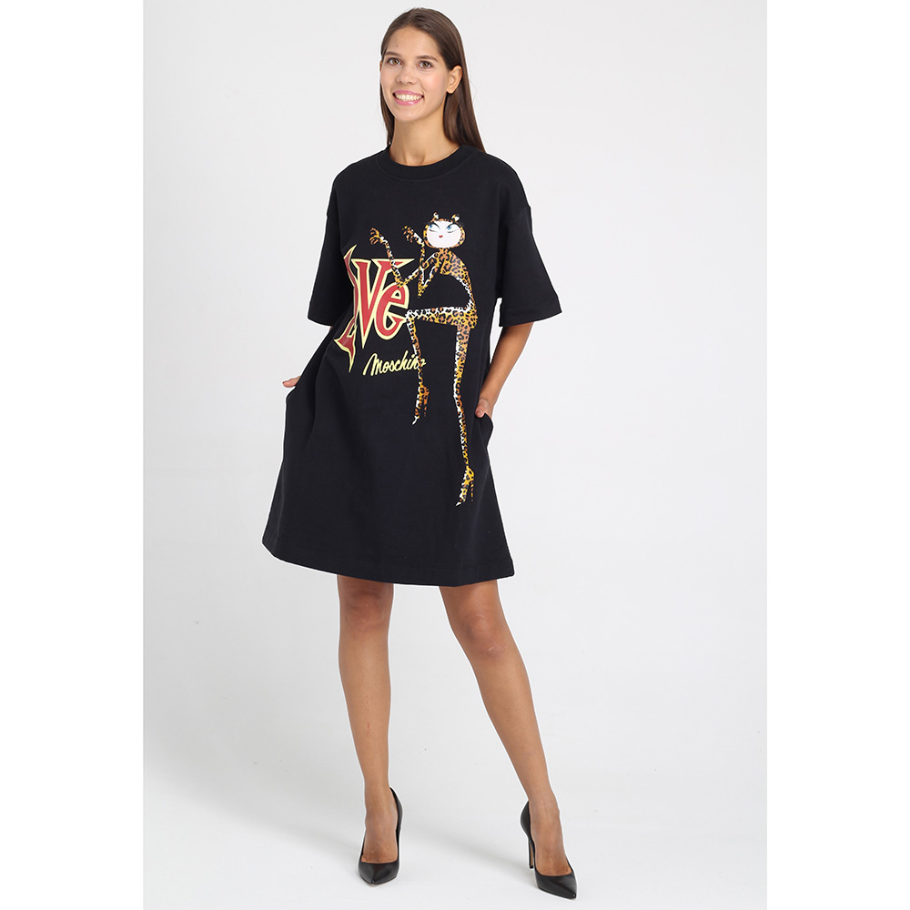 Платье-футболка Love Moschino с принтом