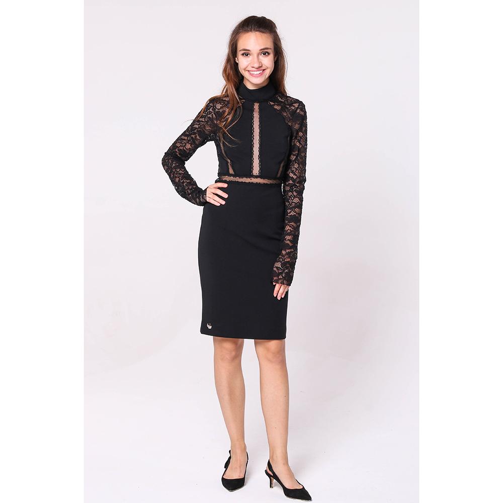 Черное платье Philipp Plein с кружевом