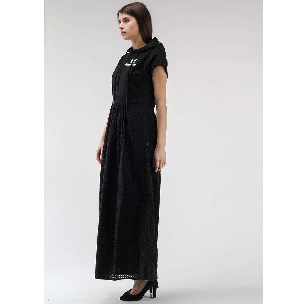 Длинное платье Love Moschino с капюшоном