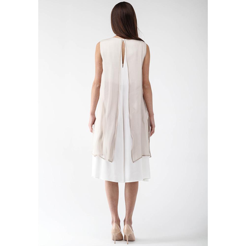 Платье Peserico бежевого цвета без рукава