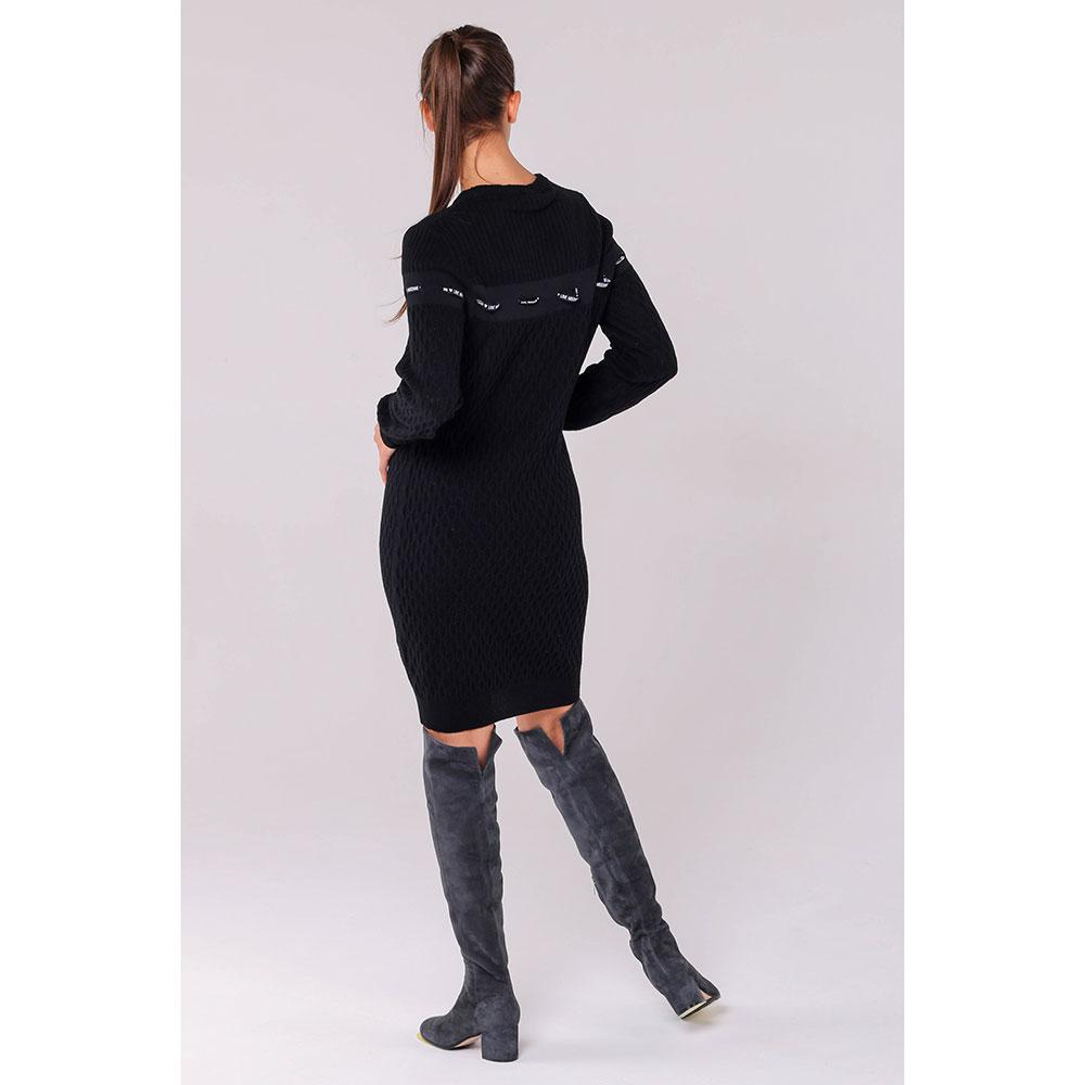 Трикотажное платье Love Moschino черного цвета