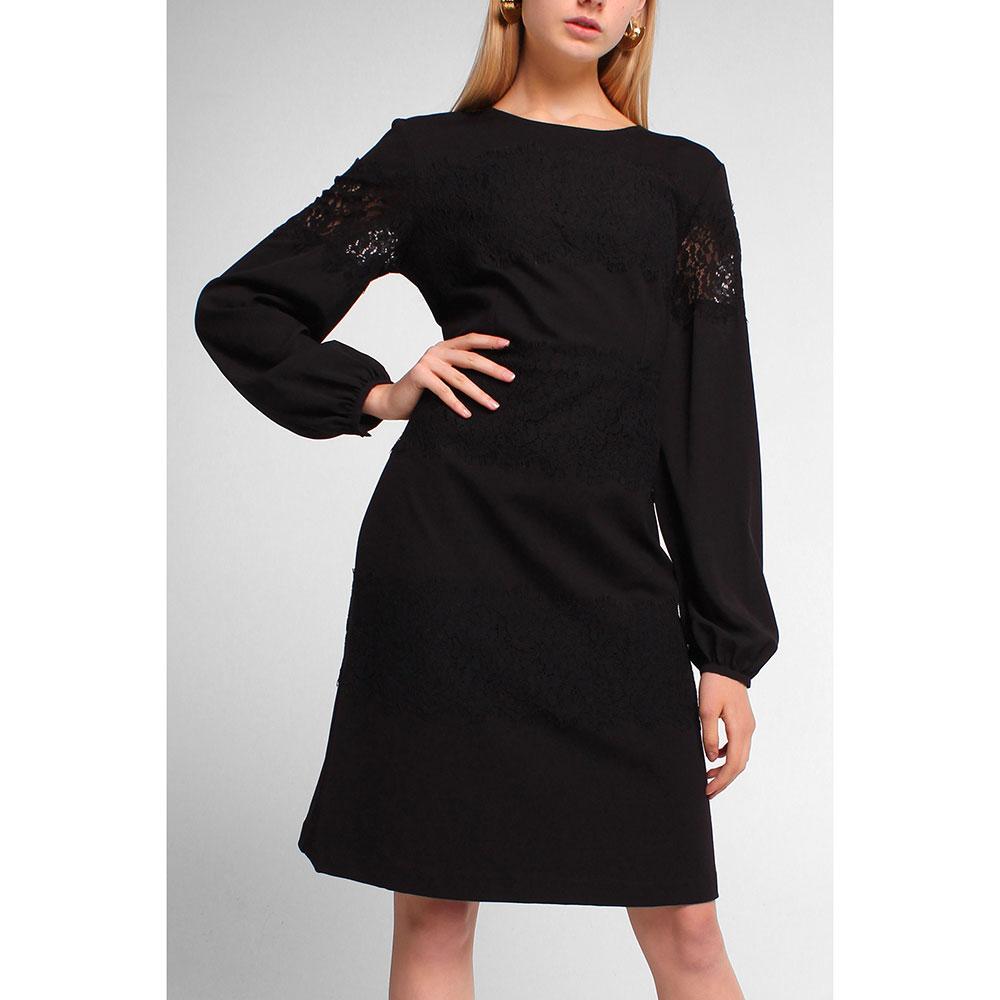 Платье до колен Twin-Set с кружевными вставками