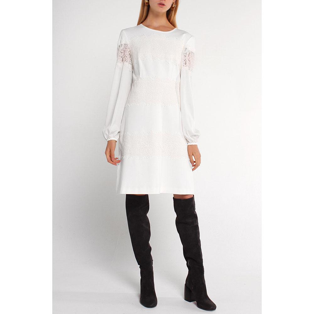 Платье Twin-Set молочного цвета до колен