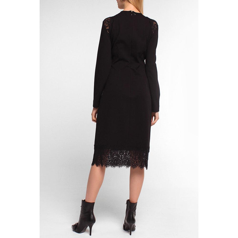 Платье Twin-Set с кружевом черного цвета