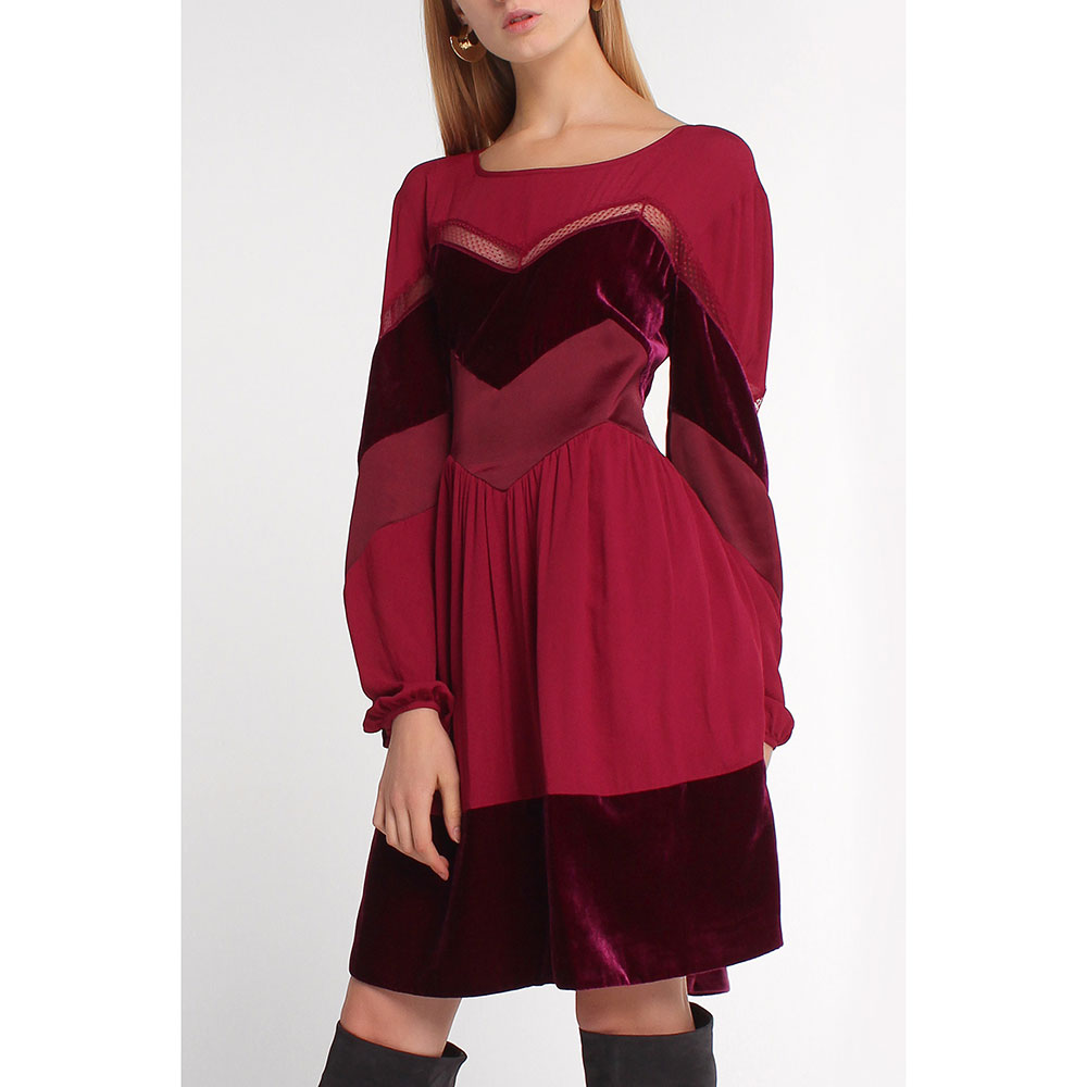 Бордовое платье Twin-Set до колен