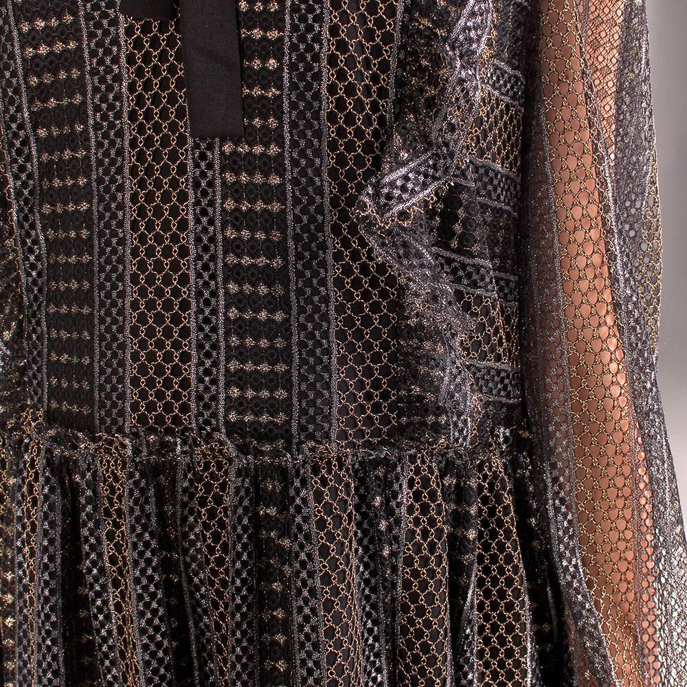 Длинное платье Twin-Set с кружевными вставками