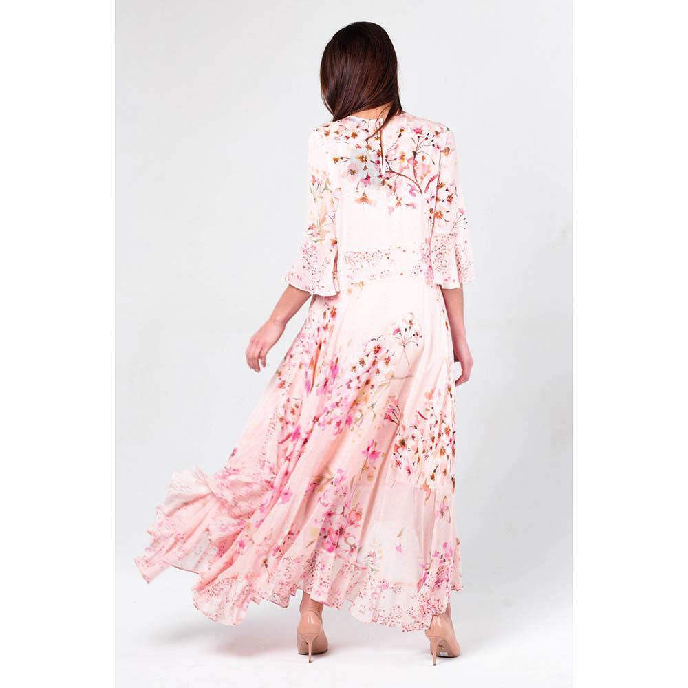 Длиное платье Twin Set с цветочным принтом