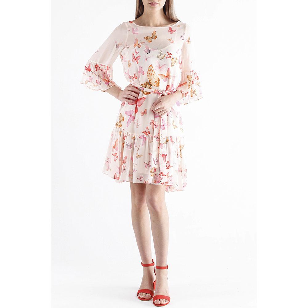Розовое платье Twin-Set с бабочками