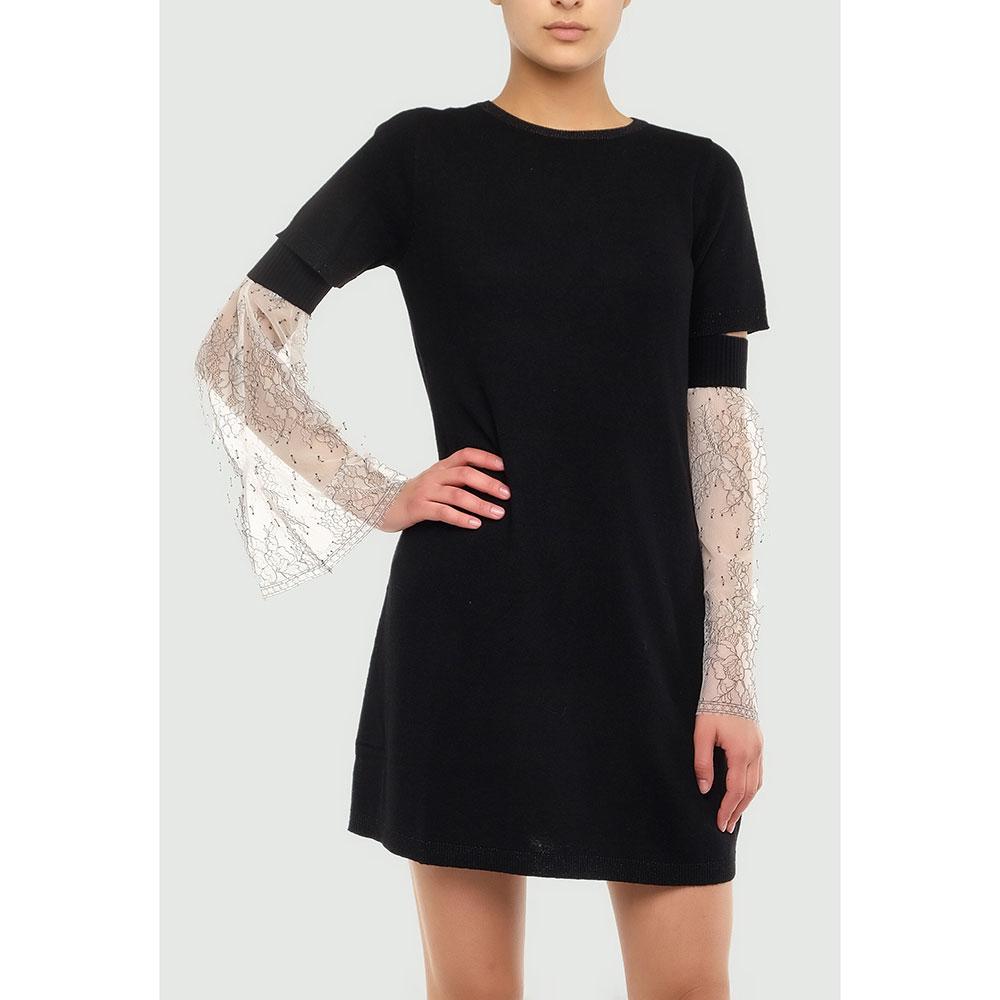 Черное платье Twin-Set со съемными рукавами