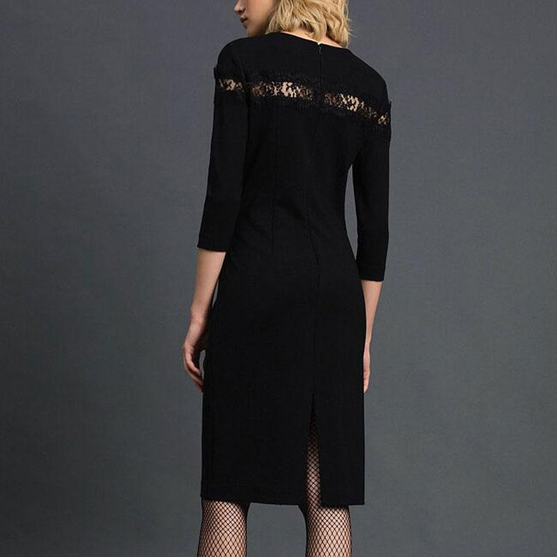 Платье-футляр Twin-Set с кружевной вставкой