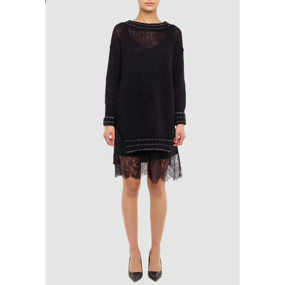 Черное платье Twin-Set с длинным рукавом