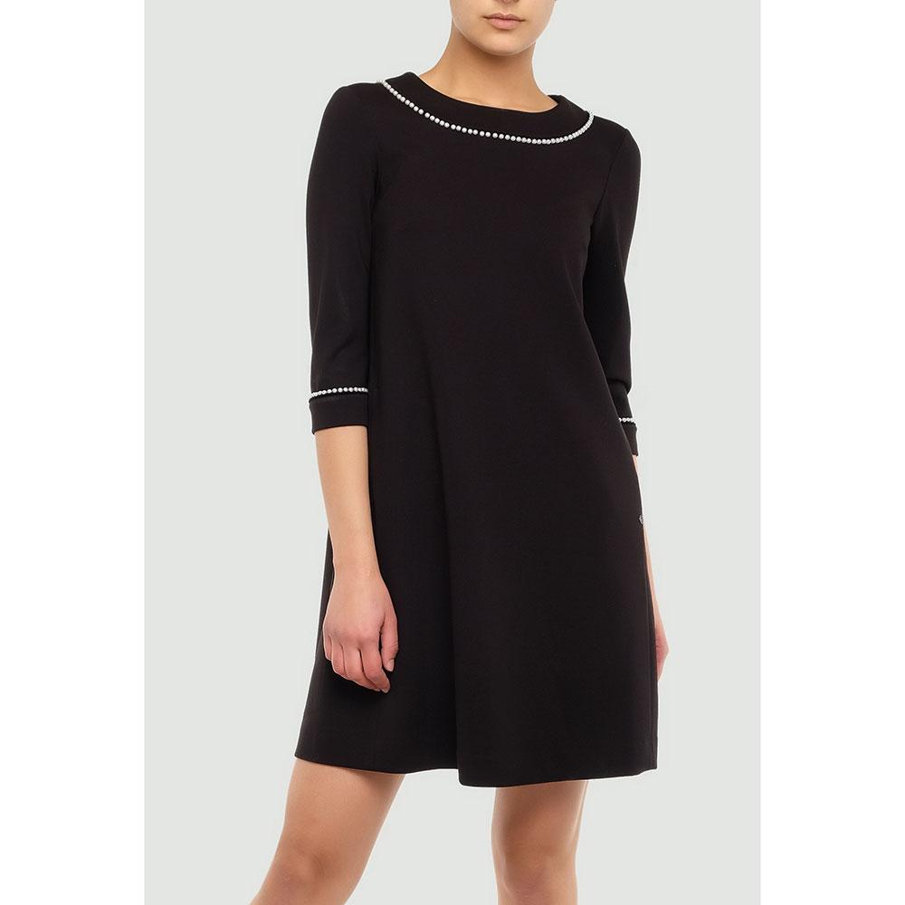 Черное платье Twin-Set с бусинами