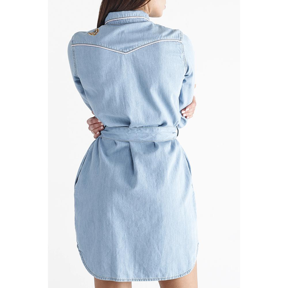 Платье -рубашка Twin-Set с вышивкой