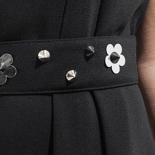 Платье до колен Sandro Ferrone черного цвета, фото