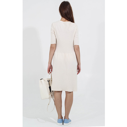 Трикотажное платье Tensione in бежевого цвета, фото