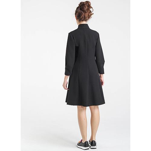 Черное платье Shako до колен на молнии, фото