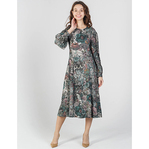 Платье Shako с цветочным принтом зеленого цвета, фото