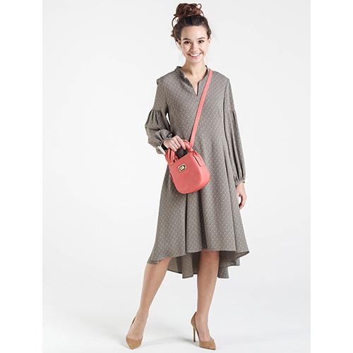 Серое платье Shako с рукавом-фонариком, фото