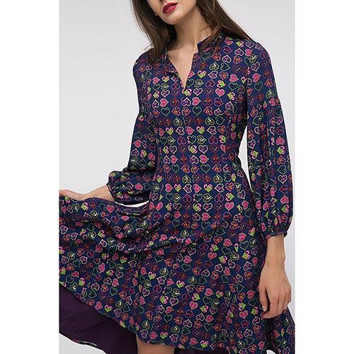 Платье Shako синего цвета с пышной юбкой, фото