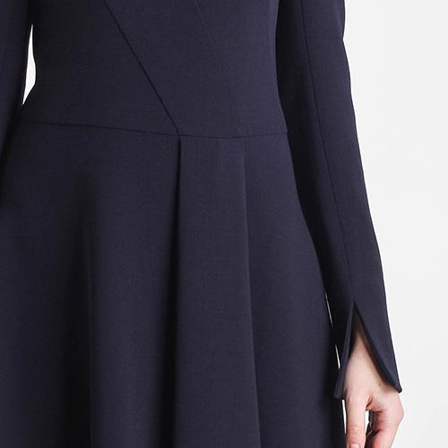 Синее платье Shako миди с пышной юбкой, фото