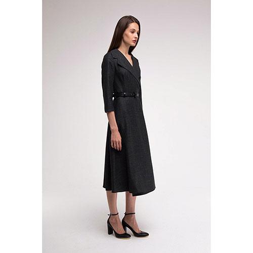 Шерстяное платье Shako на запах в клетку, фото