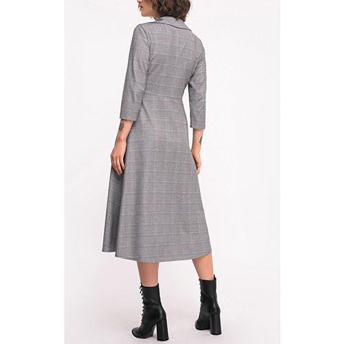 Серое платье Shako в крупную клетку, фото