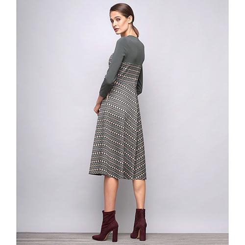 Платье Shako миди с геометрическим принтом, фото