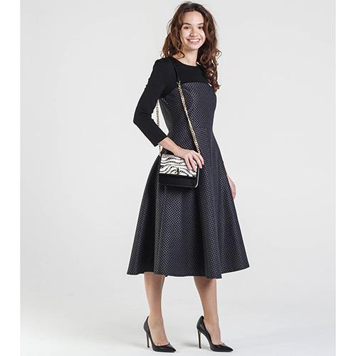 Серое платье Shako до колен с пышной юбкой, фото