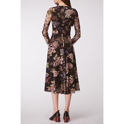 Платье-миди Shako с крупным цветочным принтом, фото