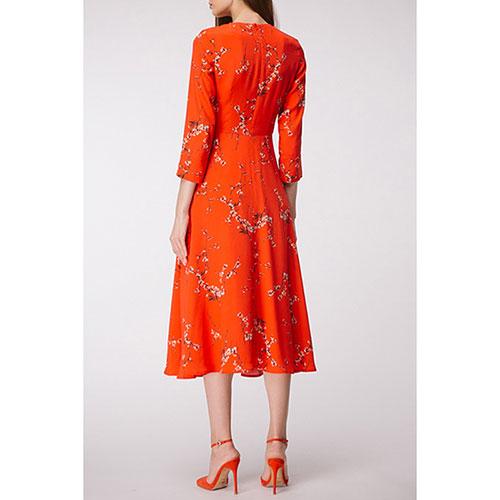 Платье-клёш Shako красного цвета с принтом, фото