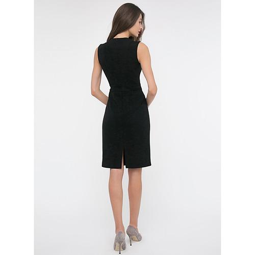 Платье-футляр Shako черного цвета без рукавов, фото
