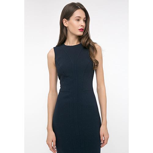 Платье-футляр Shako синего цвета без рукавов, фото