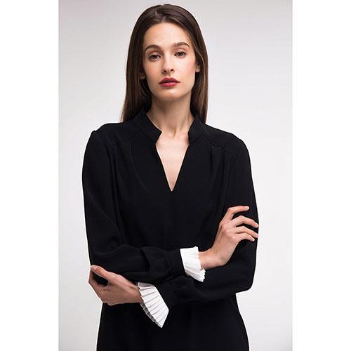 Черное платье Shako со съемным воротником, фото