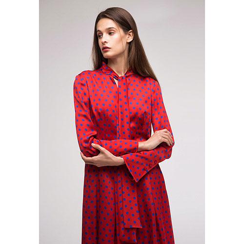 Красное платье Shako в горошок, фото