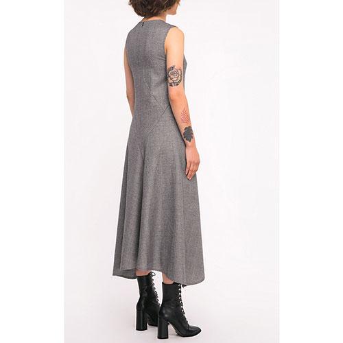 Ассиметричное платье Shako серого цвета, фото
