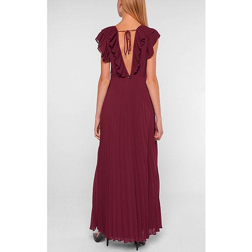 Длинное платье Twin-Set с плиссированной юбкой, фото