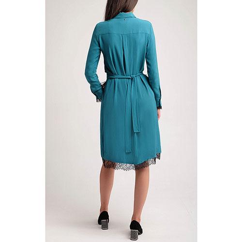 Изумрудное платье Twin-Set со съемным декором, фото